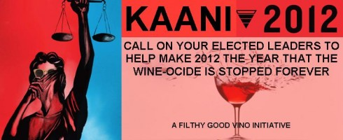 kaani 2012 Stop the Wine-ocide Feature Image Filthy Good Vino