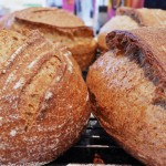 Gluten Strands on Baked Sourdough Bread Crusts Baked by Paul Kaan