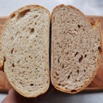 Crumb Shot of Two Sourdough Bread Recipes with Different Ratios of White, Rye, Spelt and Wholemeal by Paul Kaan